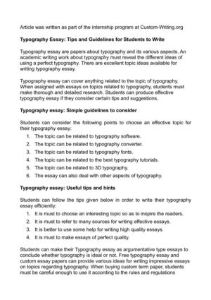 calamo  typography essay tips and guidelines for students to write typography essay tips and guidelines for students to write