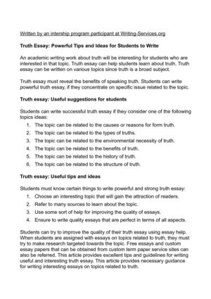 High School Admission Essay Truth Essay Powerful Tips And Ideas For Students To Write High School Scholarship Essay Examples also Sample Essays High School Students Calamo  Truth Essay Powerful Tips And Ideas For Students To Write Essay Com In English