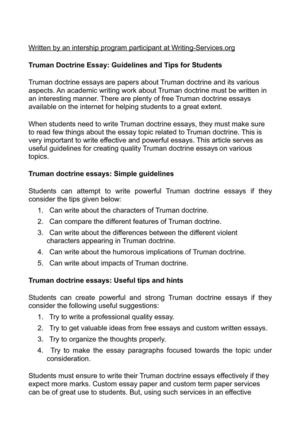 Calaméo - Truman Doctrine Essay: Guidelines and Tips for Students