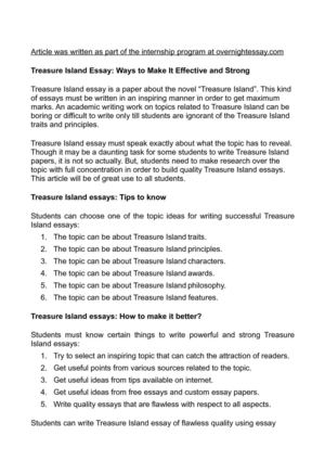 calamo  treasure island essay ways to make it effective and strong treasure island essay ways to make it effective and strong