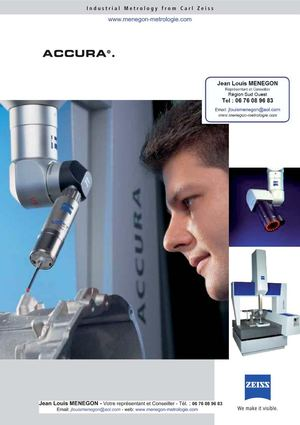 ZEISS - Machiene de mesure 3D -accura
