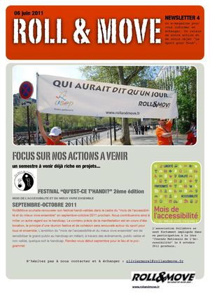 NEWSLETTER ROLL&MOVE N°4 NOS PROJETS