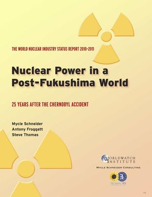 Nuclear Power in a Post-Fukushima world