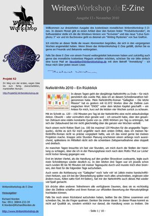 WritersWorkshop E-Zine 2010-11
