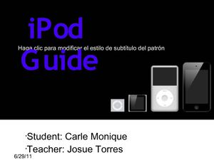 IPOD GUIDE