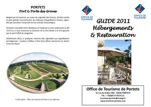 accomodation and food guide from the Tourist Office of Portets