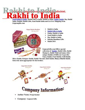 Rakhi to India, Online Rakhi, Send Rakhi to India, Rakhis