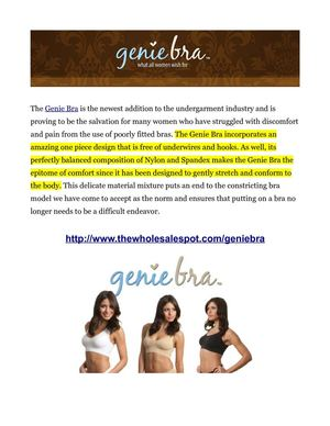 Genie Bra Freeing Countless Women From Uncomfortable and Unflattering Bras