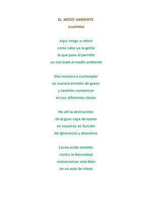 Calaméo El Medio Ambiente Poema Reflexivo