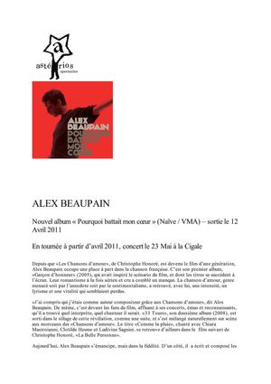Alex Beaupain bio 2011