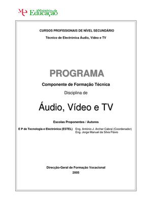 Audio Video e TV