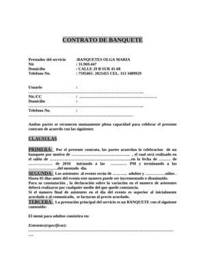 Calam o contrato banquetes olga maria for Clausula suelo firma acuerdo privado
