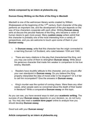 Journalistic Essay  How To Write An Argument Essay Outline also Spanish Essays Calamo  Duncan Essay Writing On The Role Of The King In Macbeth A Good Essay Structure