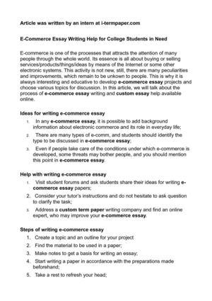 Calamo  Ecommerce Essay Writing Help For College Students In Need Ecommerce Essay Writing Help For College Students In Need