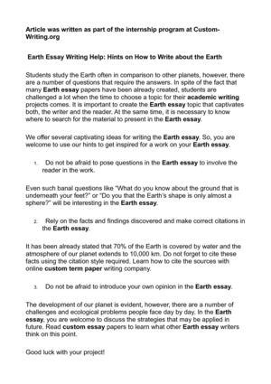 Planet Essay  Underfontanacountryinncom Planet Essay