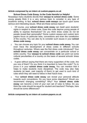 Proposal Example Essay School Dress Code Essay Is The Code Harmful Or Helpful Thesis Statement Essays also Example Of A College Essay Paper Calamo  School Dress Code Essay Is The Code Harmful Or Helpful Thesis Statement For Analytical Essay