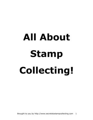 All about Stamp Collecting - Todo sobre la FILATELIA!