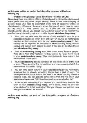 skateboarding essay could you share this way of life  skateboarding essay could you share this way of life