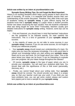 Essay Science And Religion Synoptic Essay Writing Tips Do Not Forget The Most Important Essay Writing Scholarships For High School Students also Independence Day Essay In English Calamo  Synoptic Essay Writing Tips Do Not Forget The Most Important College Essay Papers
