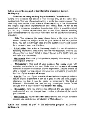 Calamo  Science Fair Essay Writing Pay Attention To Central Points Science Fair Essay Writing Pay Attention To Central Points