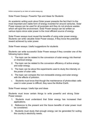 essay on solar energy 250 words