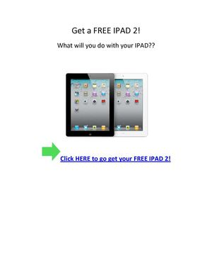 how i got a ipad 2 free