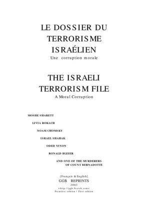 Partition Les Murs Porteurs calaméo - le dossier du terrorisme israélien. edition procurée par
