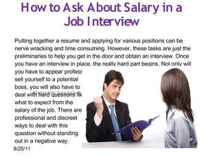 How to ask about salary in o job interview