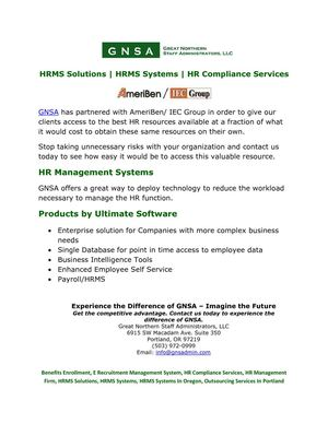 HR Compliance Services, HRMS Solutions, HRMS systems in Oregon, E Recruitment Management System