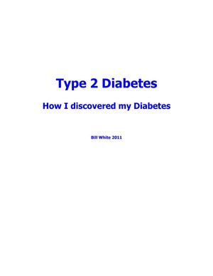 Diagnosed With Type 2 Diabetes
