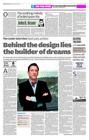 The Leader Interview David Leahy, Architect