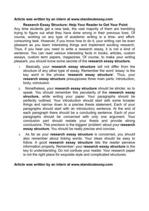 English Essay Question Examples Research Essay Structure Help Your Reader To Get Your Point Narrative Essay Sample Papers also Essays On Health Calamo  Research Essay Structure Help Your Reader To Get Your Point Example Of Essay With Thesis Statement