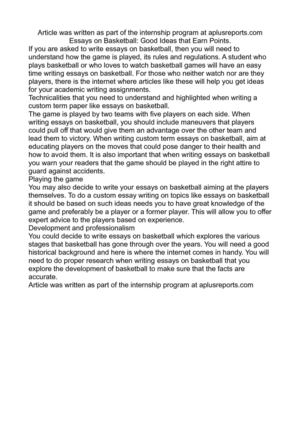 Dropping Out Of School Essay Essays On Basketball Good Ideas That Earn Points Sociology Essay Examples also Essays On Climate Change And Global Warming Calamo  Essays On Basketball Good Ideas That Earn Points College Persuasive Essays