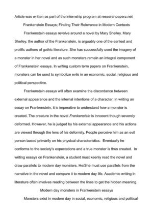 The Things They Carried Essay Questions Frankenstein Essays Finding Their Relevance In Modern Contexts Essay Forum also How To Write A Composition Essay Calamo  Frankenstein Essays Finding Their Relevance In Modern  Illustrative Essay
