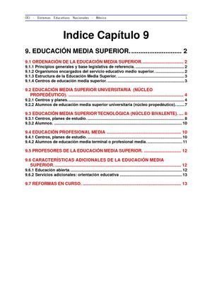 Tema- Sistema educativo Mexicano:  educaión media superior