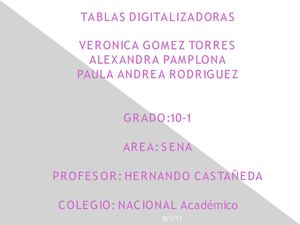 Tablas Digitalizadoras