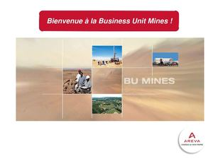 Business Unit Mines AREVA