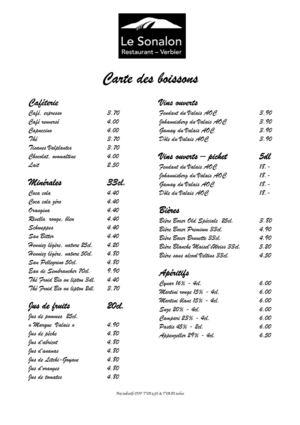 Carte Restaurant Boisson.Calameo Carte Des Boissons Restaurant Le Sonalon Verbier