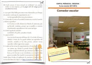 Calaméo - Comedor escolar El Peñascal- 2011/2012
