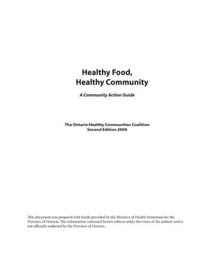Healthy Food, Healthy Community: A Community Action Guide