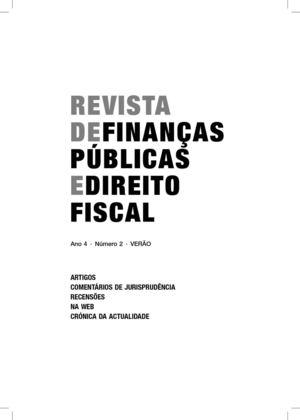 Calamo revista de finanas pblicas e direito fiscal revista de finanas pblicas e direito fiscal fandeluxe Image collections