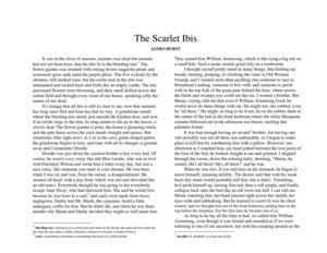 The Scarlet Ibis Summary