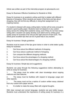 Synthesis Example Essay  Essay Proposal Format also Persuasive Essay Sample High School Calamo  Essay For Business Effective Guidelines For  Thesis Statement For Descriptive Essay