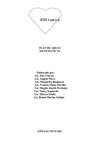 Calaméo - plan de areas matematicas