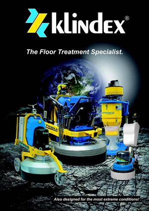 Floor Treatment Specialist by Klindex: Equipment, Machines, Tools, Products for grinding and polishing floors