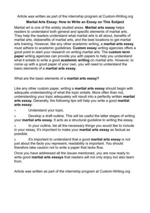 How To Write An Art Essay, Topics And Structure