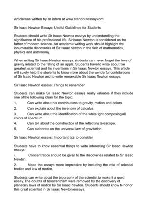 calamo  sir isaac newton essays useful guidelines for students sir isaac newton essays useful guidelines for students