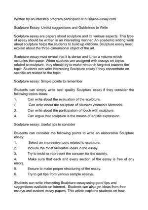 sample essay ??????? date