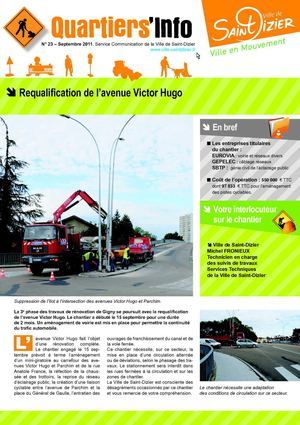Quartiers'info n°23 - Requalification de l'avenue Victor Hugo