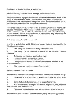 calamo  reference essay valuable ideas and tips for students to write reference essay valuable ideas and tips for students to write